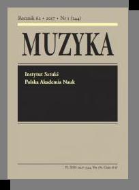 Muzyka,Rocznik 62, 2017, Nr 1 (244)