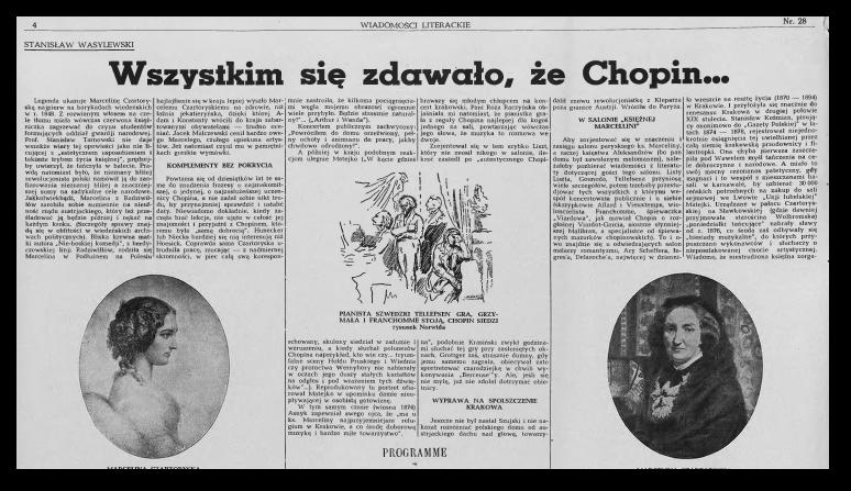 Wiadomości Literackie, Rok XVI Nr 28 (820)